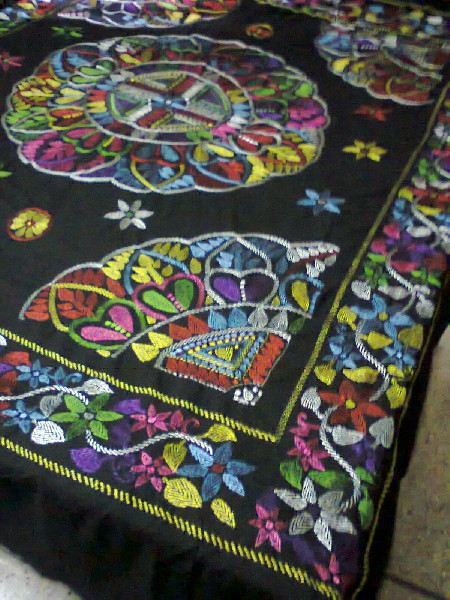 Hand Stitch & Applique Bed Cover