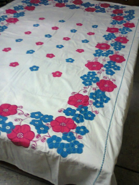 Hand Stitch & Applique Bed Cover 3