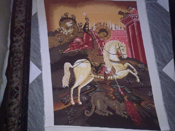 "Tapestry  ""saint George"""